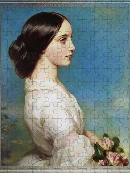 Xzendor7 Custom Art Jigsaw Puzzles - Carmen Aguado, Duchess of Montmorency by Franz Xaver Winterhalter