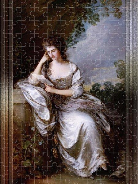 Xzendor7 Custom Art Jigsaw Puzzles - Frances Browne by Thomas Gainsborough