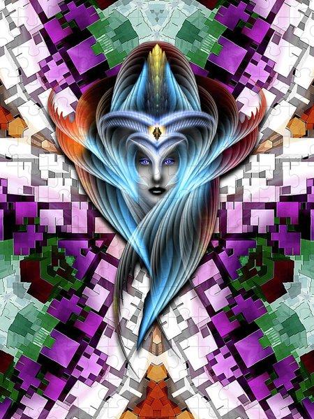 Xzendor7 Custom Art Jigsaw Puzzles - Mistress Of The Cuboid GCLR-X3M