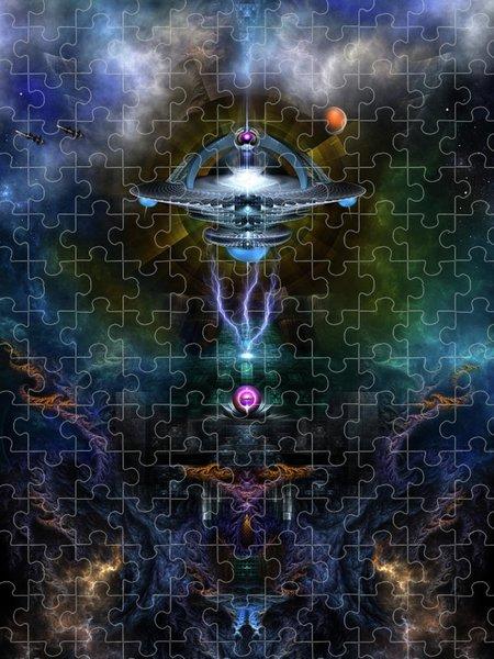 Xzendor7 Custom Art Jigsaw Puzzles - Space Station Ansarious