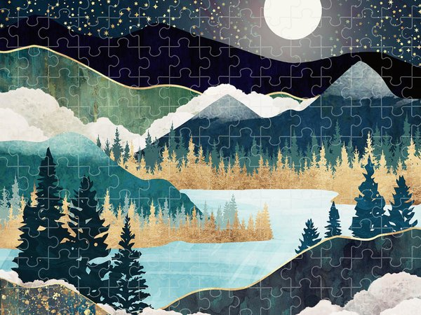 Teal Jigsaw Puzzles