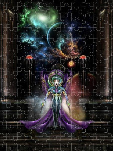 Xzendor7 Custom Art Jigsaw Puzzles - The Elegance Of Trilia NSE Fractal Portrait