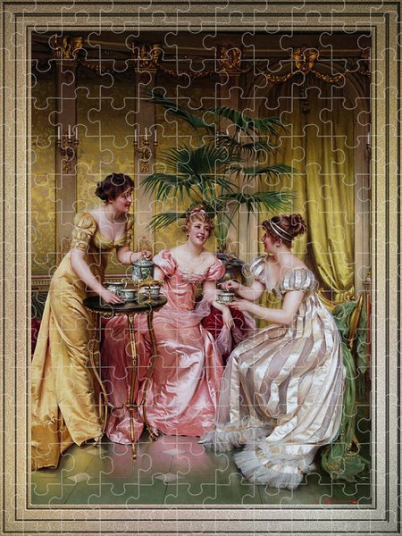 Xzendor7 Custom Art Jigsaw Puzzles - Afternoon Tea by Frederic Soulacroix
