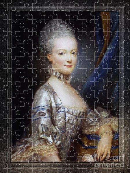Xzendor7 Custom Art Jigsaw Puzzles - Archduchess Maria Antonia of Austria by Joseph Ducreux Classical Fine Art Old Masters Reproduction