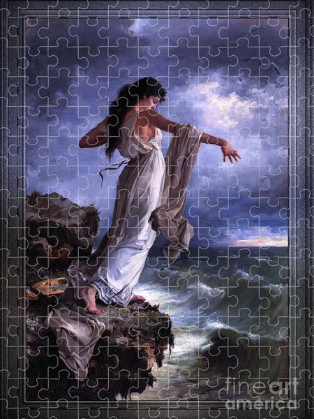 Xzendor7 Custom Art Jigsaw Puzzles - Death of Sappho by Miguel Carbonell Selva