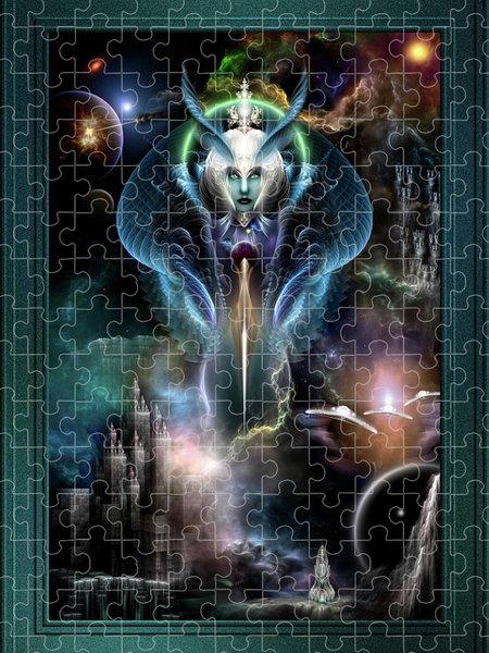 Xzendor7 Custom Art Jigsaw Puzzles - Thera Queen Of The Galaxy