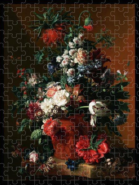 Xzendor7 Custom Art Jigsaw Puzzles - Vase of Flowers by Jan van Huysum