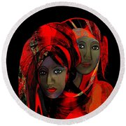 2910 Colour Of Passion Round Beach Towel