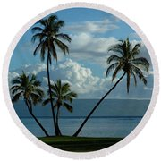 A Little Bit Of Paradise Round Beach Towel by Vivian Christopher