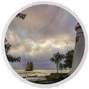 A Place To Dream Round Beach Towel