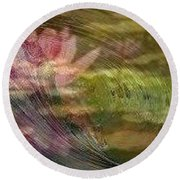 A Splash Of Lily Round Beach Towel by PainterArtist FIN