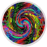 Abstract Fusion 215 Round Beach Towel
