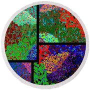 Abstract Fusion 86 Round Beach Towel