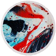 Abstract Original Artwork One Hundred Phoenixes Untitled Number Fifteen Round Beach Towel
