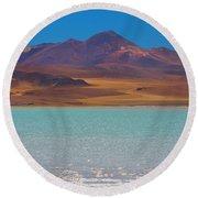 Atacama Salt Lake Round Beach Towel