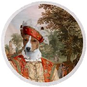 Basenji Art Canvas Print Round Beach Towel