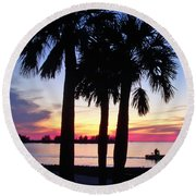 Beach Sunset Round Beach Towel by Aimee L Maher Photography and Art Visit ALMGallerydotcom