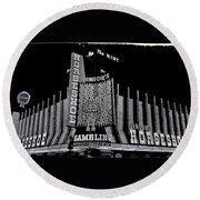 Binion's Horseshoe Casino Exterior Casino Center Las Vegas Nevada 1979-2014 Round Beach Towel