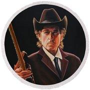 Bob Dylan 2 Round Beach Towel by Paul Meijering