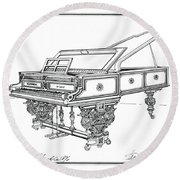 Bosendorfer Centennial Grand Piano Round Beach Towel
