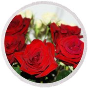 Bouquet Of Roses Round Beach Towel