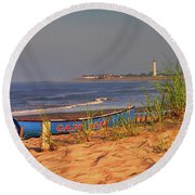 Cape May Beach Round Beach Towel