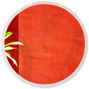Challenging Circumstances Round Beach Towel by Prakash Ghai