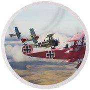 Circus Comes To Town Round Beach Towel