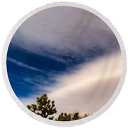 Cloud Wall Round Beach Towel