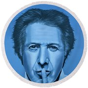 Dustin Hoffman Painting Round Beach Towel