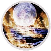 Emotions On Fire Round Beach Towel