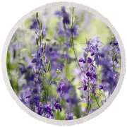 Fields Of Lavender  Round Beach Towel by Saija  Lehtonen