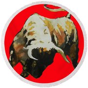 T  .  O  .  R  .  O  .  In Red Round Beach Towel