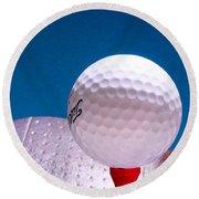 Golf Round Beach Towel by David and Carol Kelly