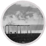 Round Beach Towel featuring the photograph  I See Trees... by Fei A