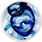 Immiscible Round Beach Towel by Anastasiya Malakhova
