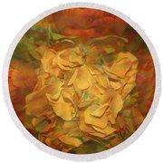 Round Beach Towel featuring the photograph  Impressionistic Autumn Bouquet by Dora Sofia Caputo Photographic Art and Design