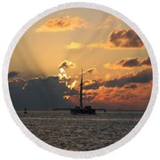 Round Beach Towel featuring the photograph Marelous Key West Sunset by Christiane Schulze Art And Photography