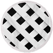 Lattice Fence Pattern Round Beach Towel
