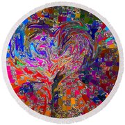 Love Chameleon Round Beach Towel