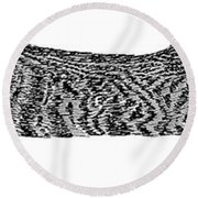 Skippy The Manx Cat Sleeping Round Beach Towel