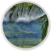 Maui Foot Hills Round Beach Towel