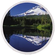 Round Beach Towel featuring the photograph  Mount Hood Oregon  by Paul Fearn