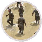 Nh North Conway Mud Ball Round Beach Towel