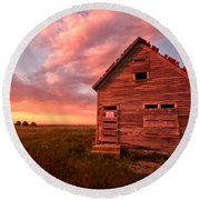 Round Beach Towel featuring the photograph  No Trespassing by Ronda Kimbrow
