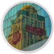 Round Beach Towel featuring the photograph  Office For Sale by Michelle Meenawong