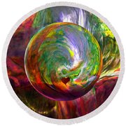 Orbing A Sea Of Love Round Beach Towel