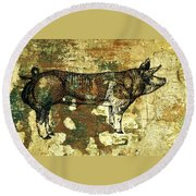 German Pietrain Boar 27 Round Beach Towel