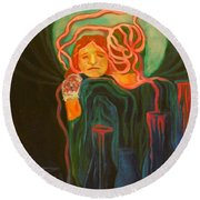 The Unavailable Mother Round Beach Towel