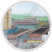 Portsmouth Ohio Dime Store Row 4th To 5th Round Beach Towel